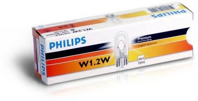 Лампа Philips  T5 12V-1.2W W2*4.6d 12516CP
