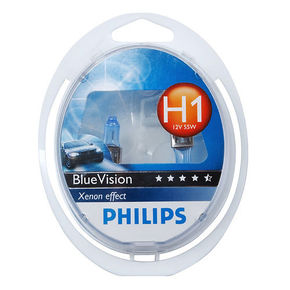 Лампы Philips  H1 12V- 55W (P14,5s) Blue Vision Ultra